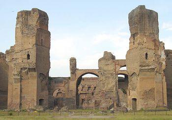 Las Termas de Caracalla, foto tomada en 2003
