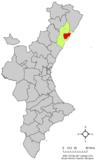 Localización de Cabanes respecto a la Comunidad Valenciana