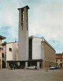 Iglesia de San Juan Bautista, Firenzuola (1956-1966), junto con Edoardo Detti.