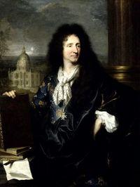 Jules Hardouin-Mansart. Retrato de Hyacinthe Rigaud. Palacio de Versalles.