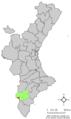 Localització de l'Alguenya respecte el País Valencià.png