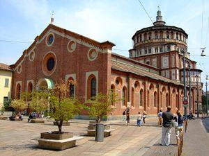 Vista del convento de Santa Maria delle Grazie.