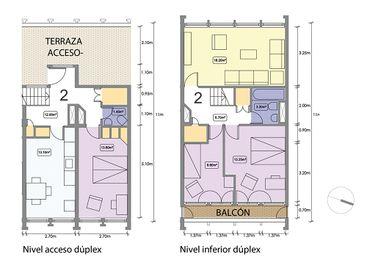 Dúplex tipo de 3 dormitorios (90m2)