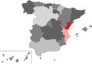 Localización de la provincia de Castellón en España