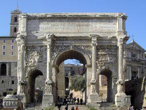 Arco de Severo Séptimo, en el Foro romano