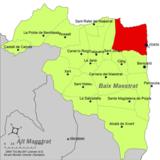 Localización de Vinaroz respecto a la comarca del Bajo Maestrazgo