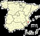 Localización del área metropolitana de Alicante en España