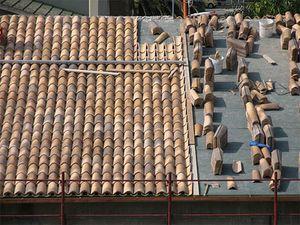 Ejecución de cubierta de tejas