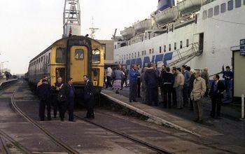Weymouth Quay railway station en 1986.