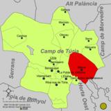 Localització de Bétera respecte del Camp de Túria