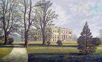 El castillo de Kimbolton en una pintura de 1880