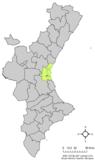 Localización de Albal respecto a la Comunidad Valenciana