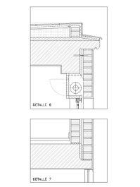 sección constructiva por fachada