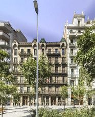 Casas Antoni Gibert y Francesc Farreras en Paseo de Sant Joan, Barcelona (1894-1895)