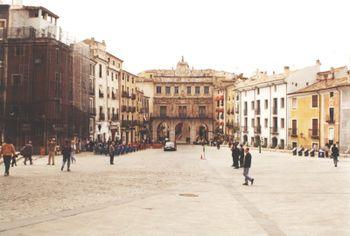 Ayuntamiento de Cuenca en la plaza Mayor