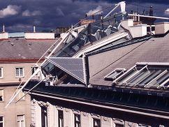 Remodelación de cubierta en Falkestraße, Viena, Austria. (1983-1988)