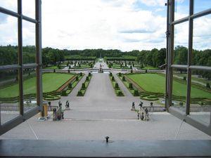 Vista del jardín barroco, desde el palacio